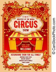 poszter, cirkusz, hirdetés
