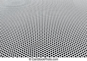 potáhnout kovem souřadnicová sí, perspektivní