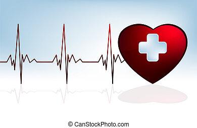 potłuczenie serca, tło., eps, 8