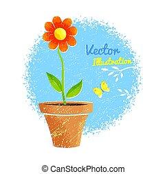 pot., λουλούδι