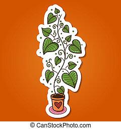 pot., 植物, 花, 緑