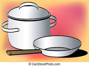 Pot and pan