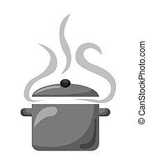 pot cooking design, vector illustration eps10 graphic