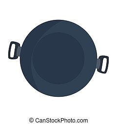 pot cooking icon on white background