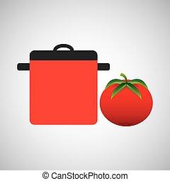 pot, cuisine, icône
