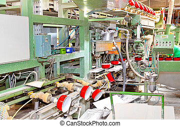 Pot factory line