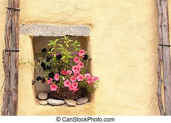 pot fleurs, pétunias