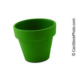 pot fleurs, vert