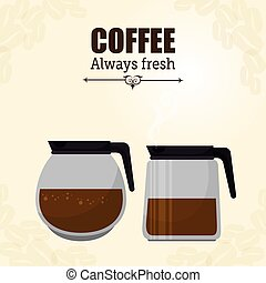 pot glass coffee maker graphic