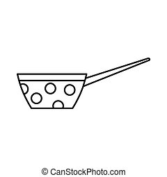 Pot icon, outline style