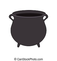 Vecteur eps de steaming pot cuisine noir blanc dessin for Art et cuisine chaudron line