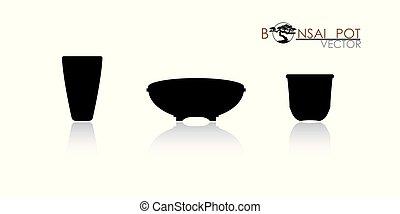 pot of Bonsai tree.