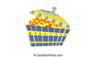 Pot of gold icon animation best object on white background