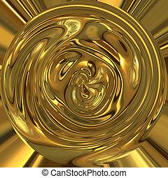 pot of gold  - liquid gold swirls around in circle