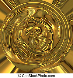 pot of gold  - liquid gold swirls around in circle