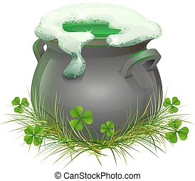 Pot of Irish beer. Irish ale