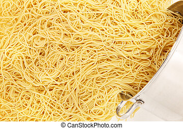 Pot of Spaghetti Noodles