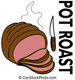 Pot Roast - An image of a pot roast.