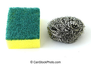 pot scrubbing sponge dishwasher.