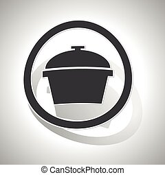 Pot sign sticker, curved