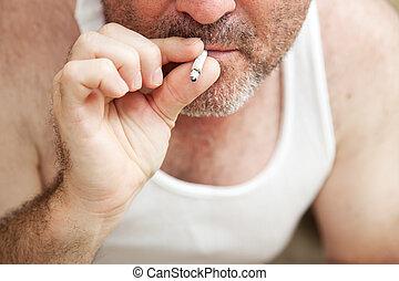 Pot Smoking - Closeup