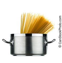 pot, spaghetti