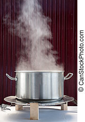 Pot - Steam coming out of a pot