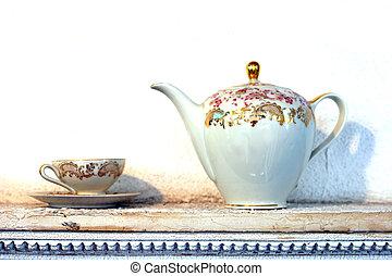 pot thé, tasse