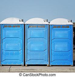 Potable bathroom toilet