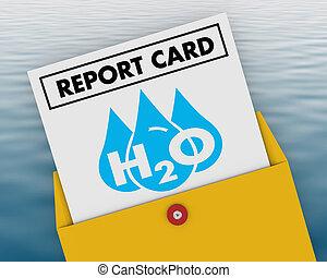 potable, ressource, classe, h20, illustration, eau, partition, propre, rapporter carte, 3d