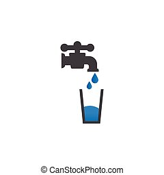 Potable water icon design template vector isolated...