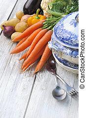 potage, warzywa