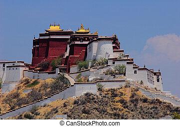 Potala Palace in Tibet - Landscape of the famous Potala...