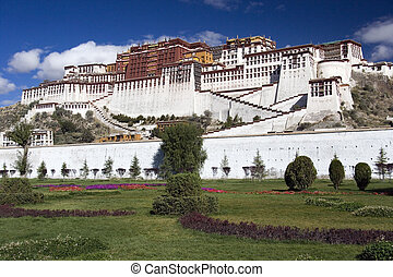 Potala Palace - Lhasa - Tibet - Potala Palace in the city of...