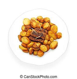 potaoes, tradicional, mici, fresco, nuevo, frito