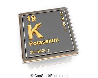 Potassium. Chemical element. 3d