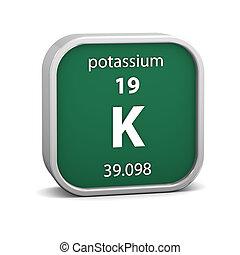 Potassium material sign - Potassium material on the periodic...