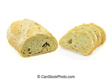 Potato and Rosemary Specialty Bread. - Stock Photo of Loaf...
