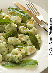 Potato and Spinach Gnocchi with Sage Butter