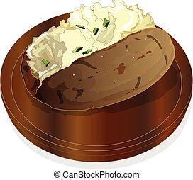 Potato BBQ illustration. Vector.