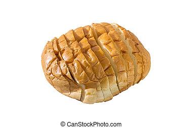 potato bread on white background