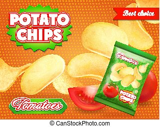 Potato chips ads with tomatoes Advertising