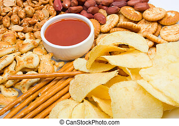 Potato chips and salty snacks - Potato chips, salty snack...