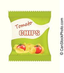 Potato chips bags