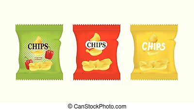 Potato chips bags