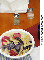 Potato Chips in Red White and Blue