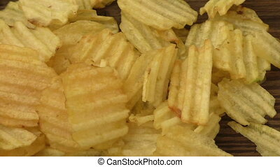 Potato chips ready to eat