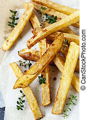 Potato Chips with Vinegar and Thyme