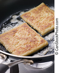 Potato Farls Frying in Butter