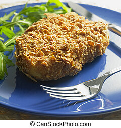 potato fillet in cornflakes